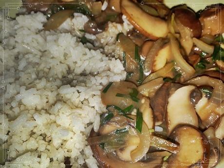 Rezept Tip – Butter Jasmin Reis mit braunen Champignons