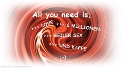 All you need is …